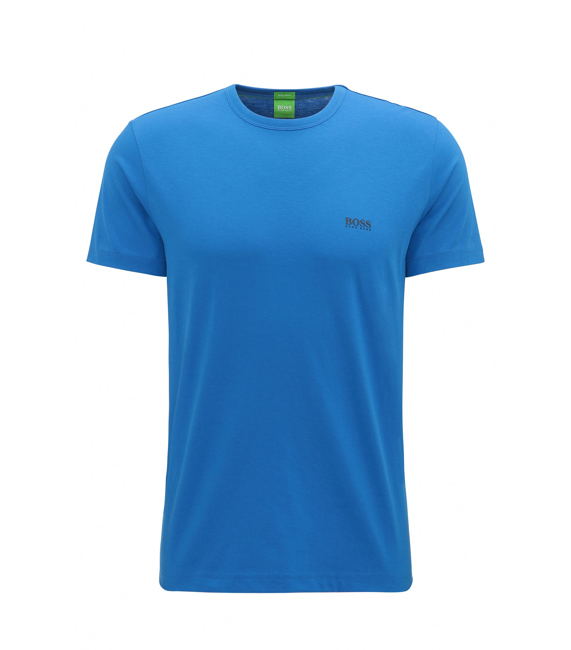 Regular-fit T-shirt van single jersey, Blauw