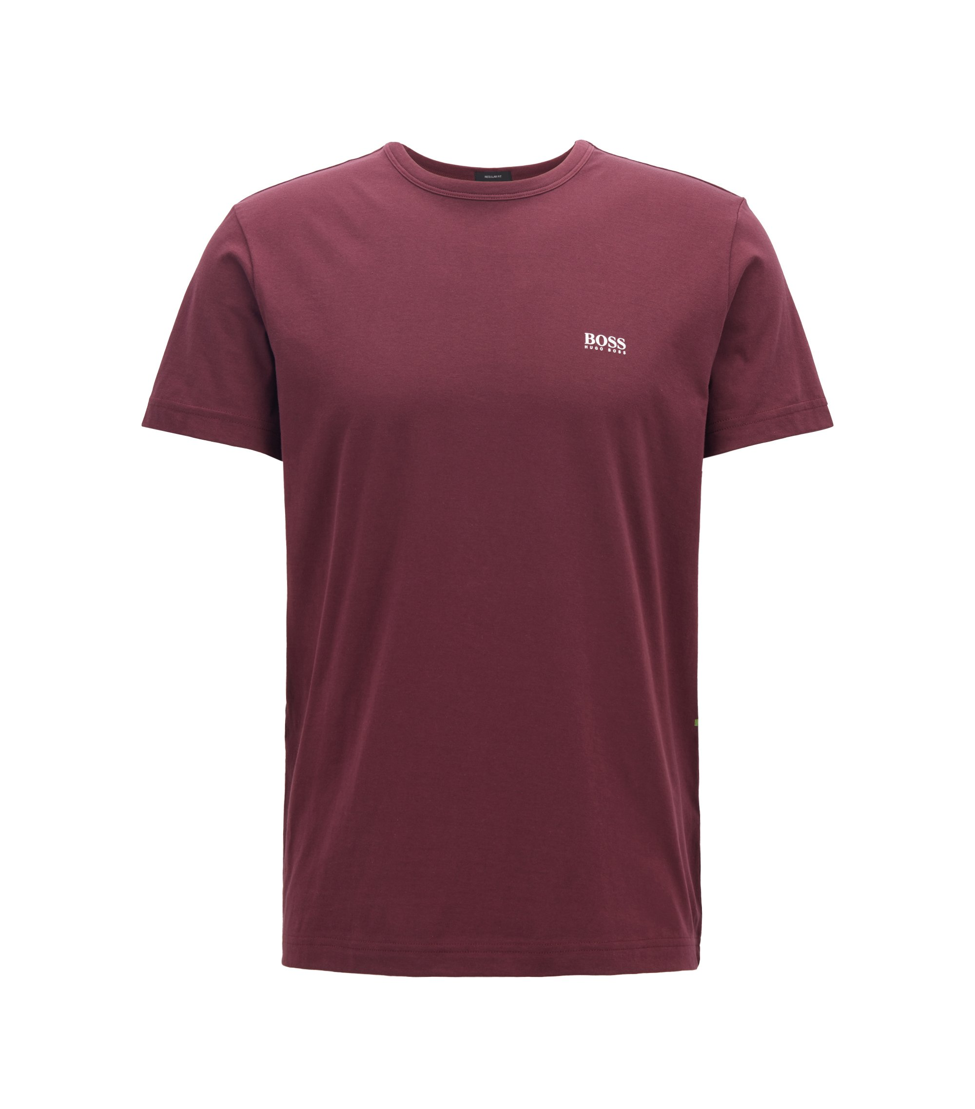 Regular-fit T-shirt in single jersey, Dark Purple