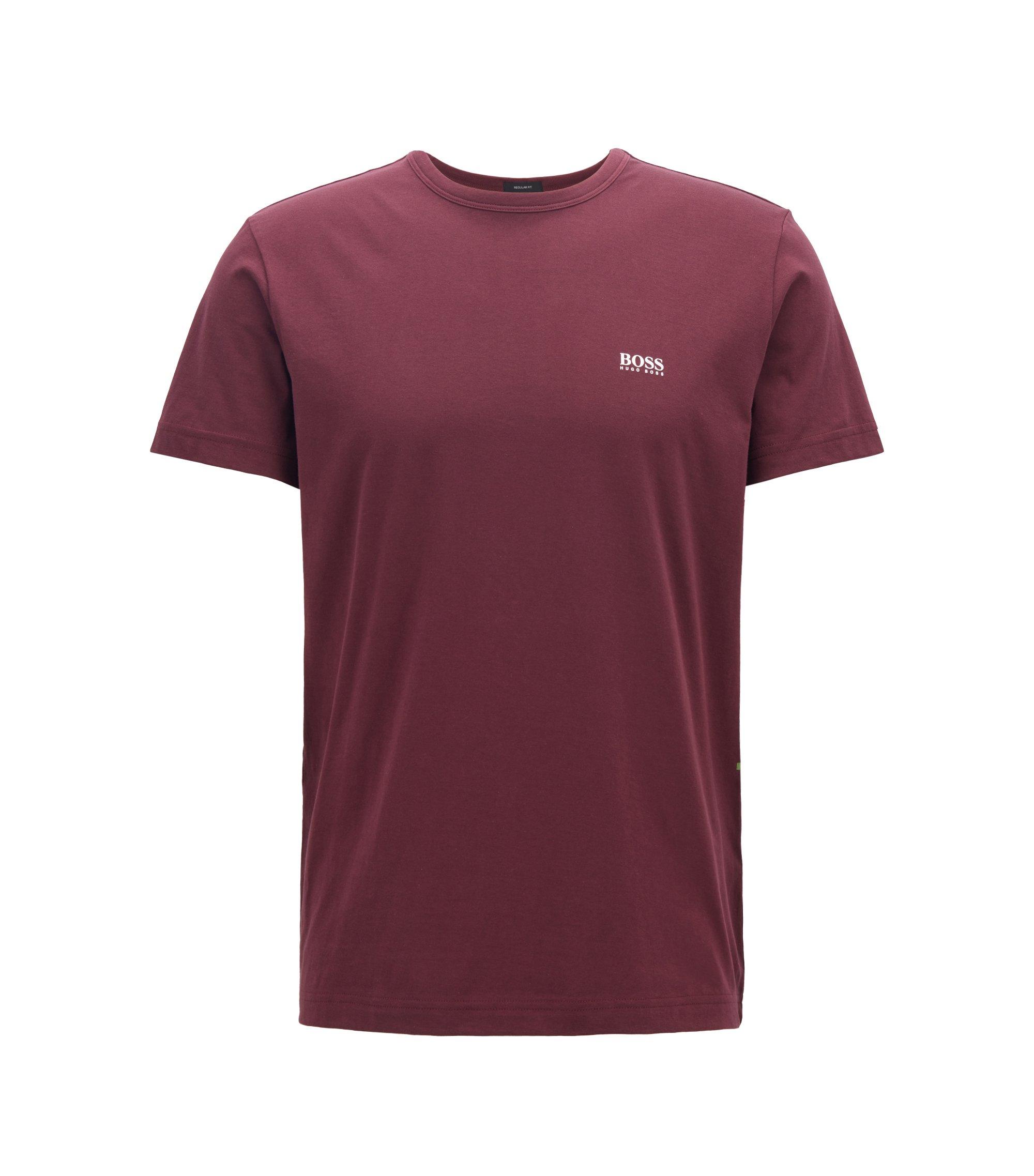 Regular-Fit T-Shirt aus Single Jersey, Dunkel Lila