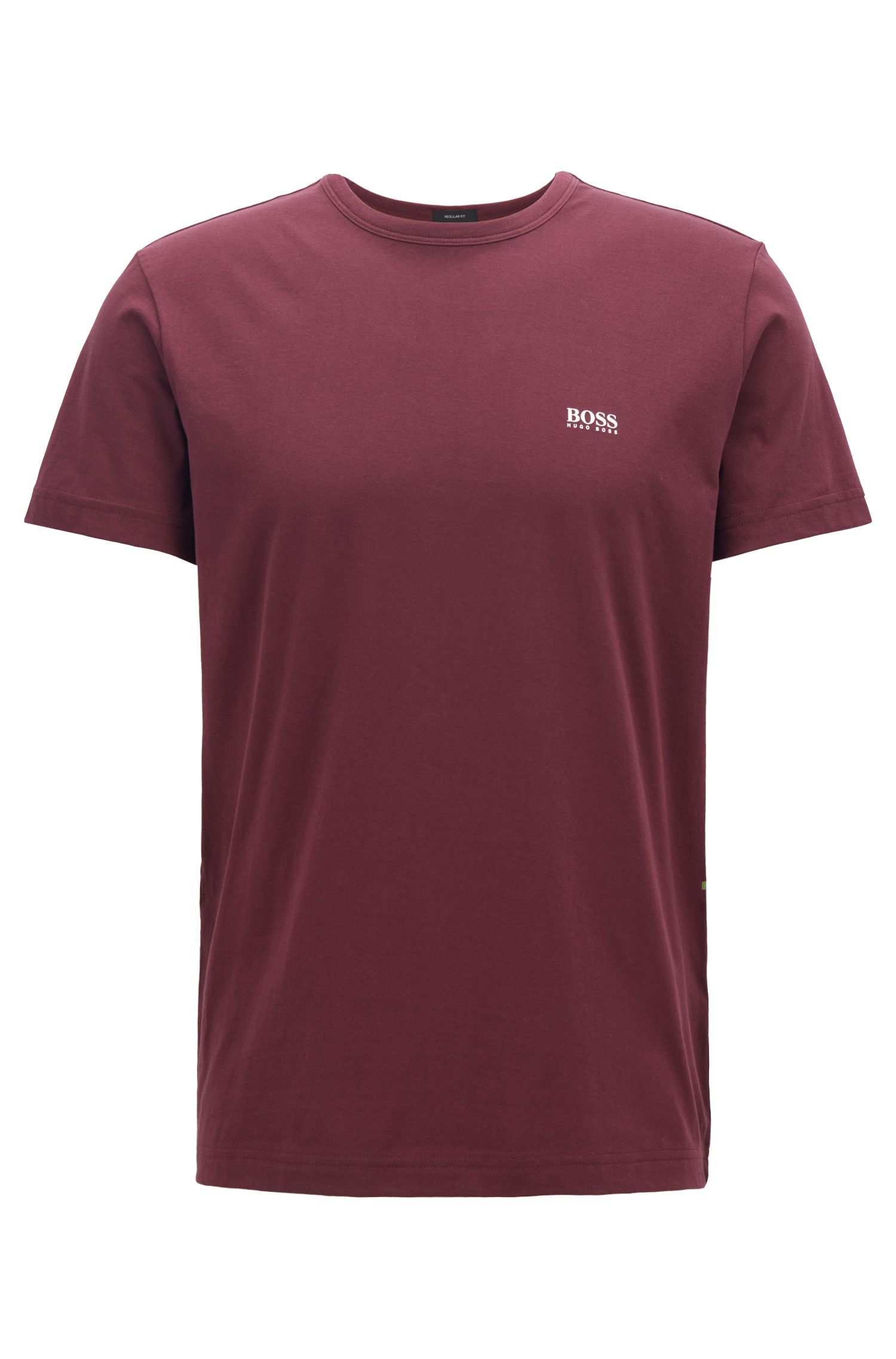 Regular-Fit T-Shirt aus Single Jersey, Dunkel Lila
