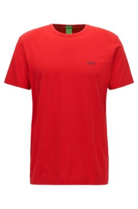 Regular-fit T-shirt in single jersey, Red