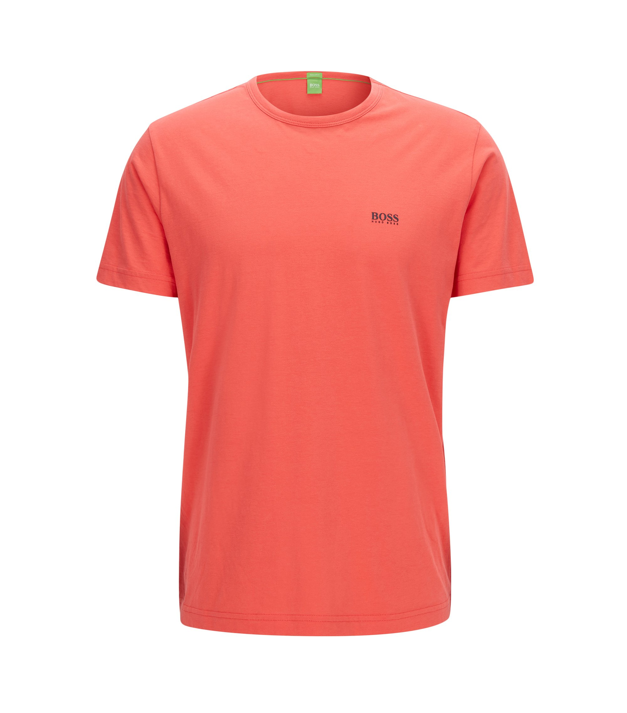 Regular-fit T-shirt in single jersey, Dark pink