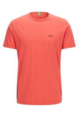 Regular-Fit T-Shirt aus Single-Jersey, Dunkelrosa