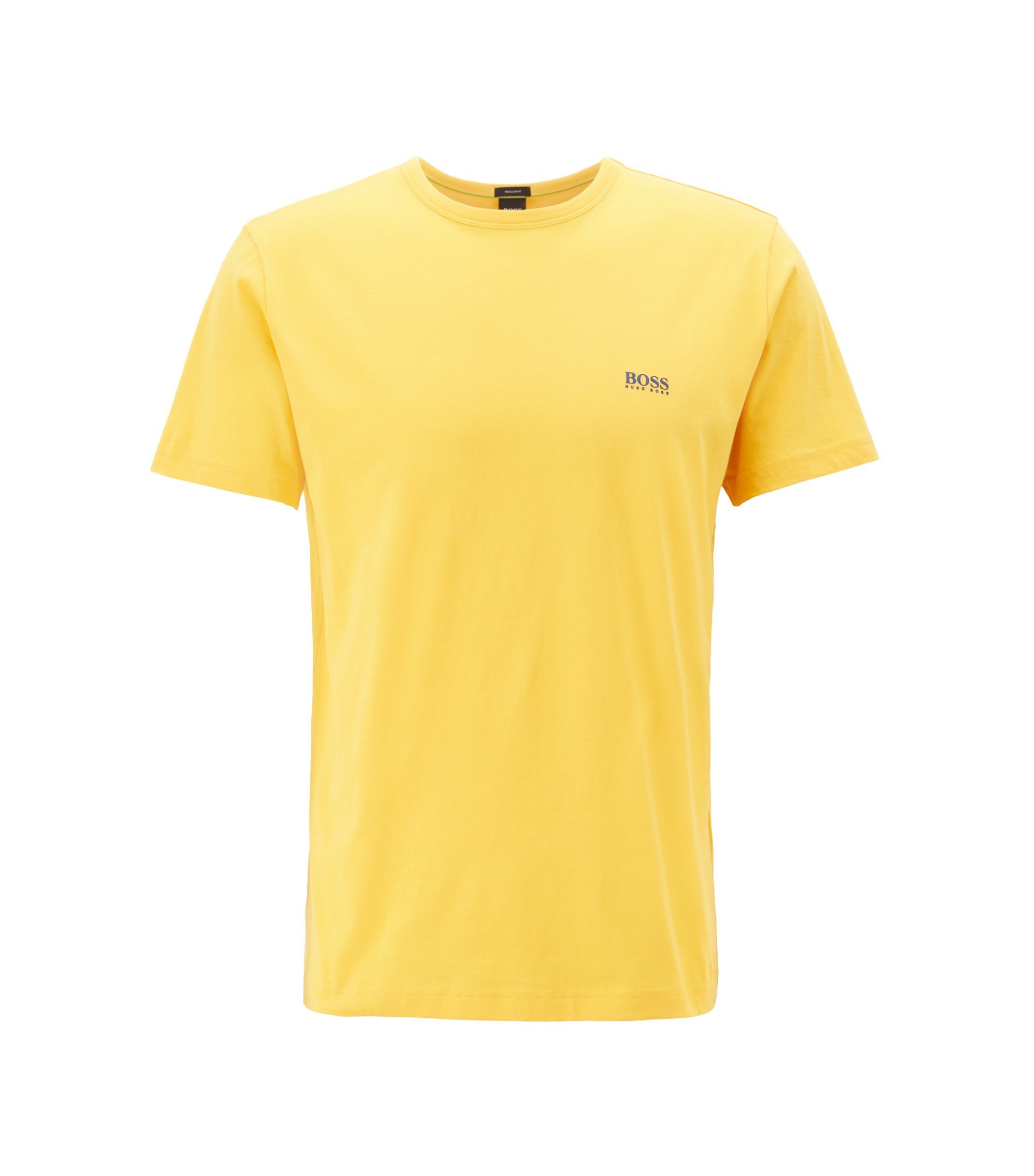 Regular-fit T-shirt in single jersey, Light Yellow