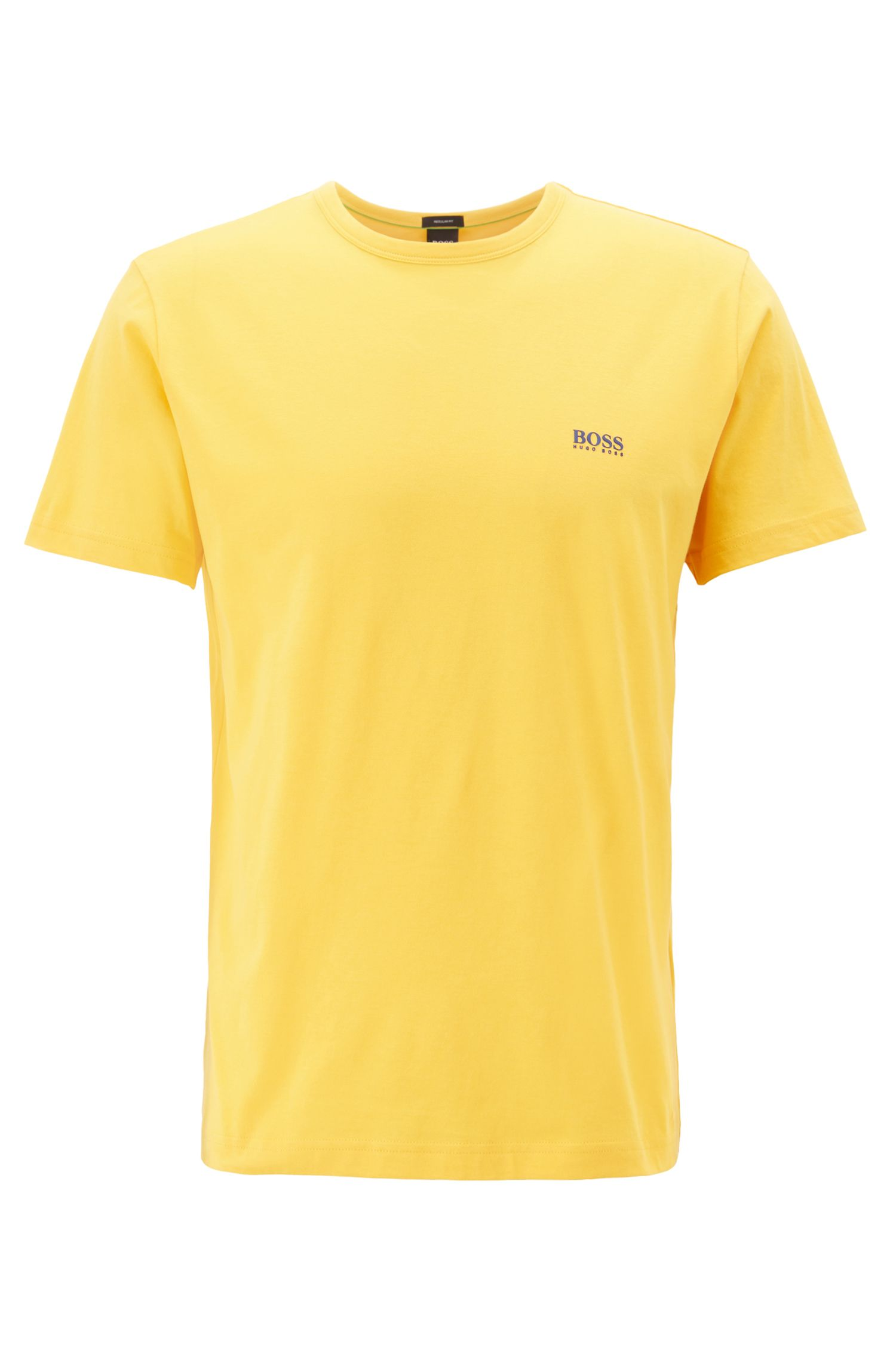 Regular-Fit T-Shirt aus Single Jersey, Hellgelb