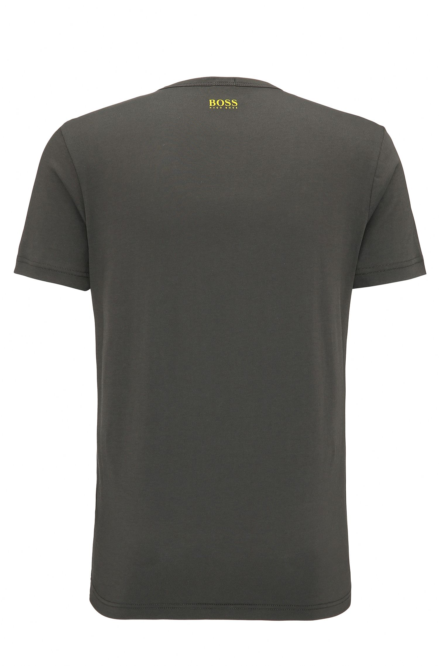 Regular-Fit T-Shirt aus Single Jersey, Dunkelgrau