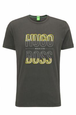 T-shirt Regular Fit en jersey simple, Gris sombre