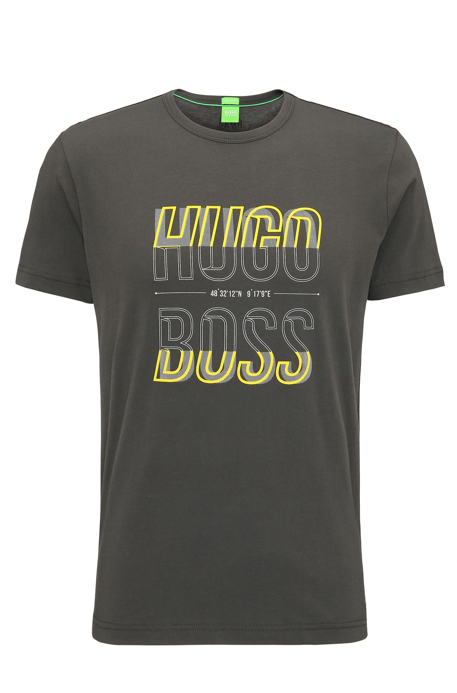 T-shirt regular fit in jersey singolo
