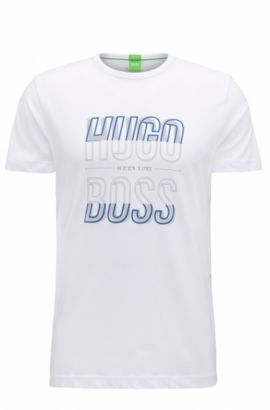 T-shirt regular fit in jersey singolo, Bianco