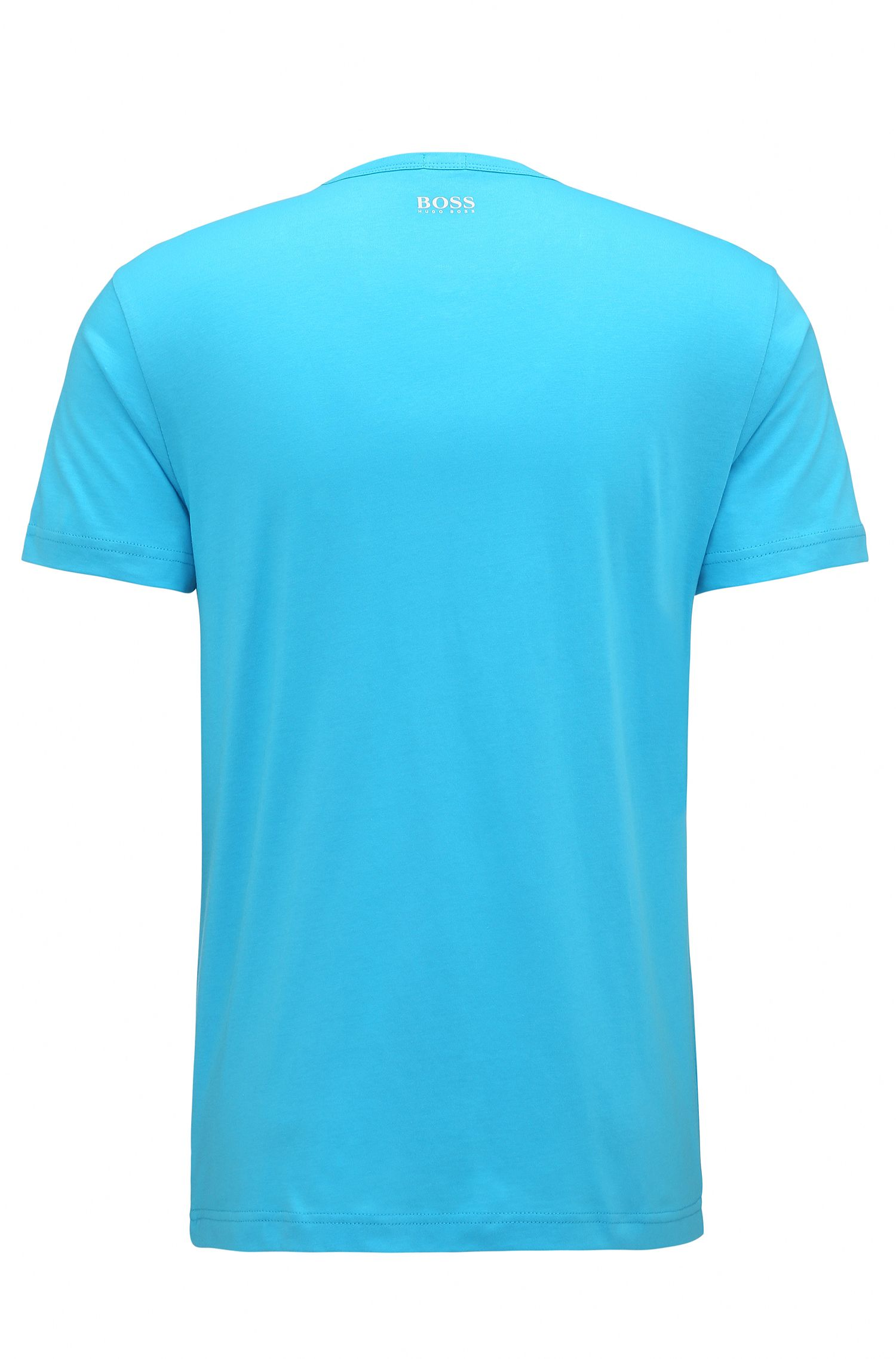 Regular-fit T-shirt van singlejersey, Turkoois