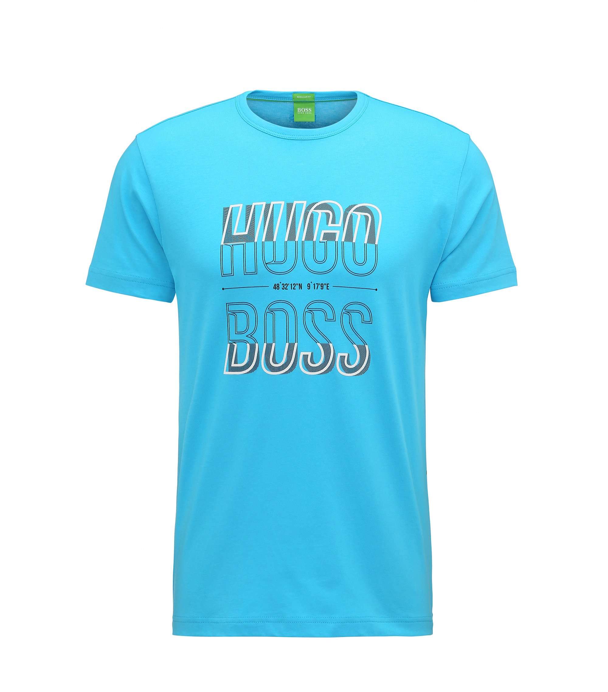 T-shirt Regular Fit en jersey simple, Turquoise