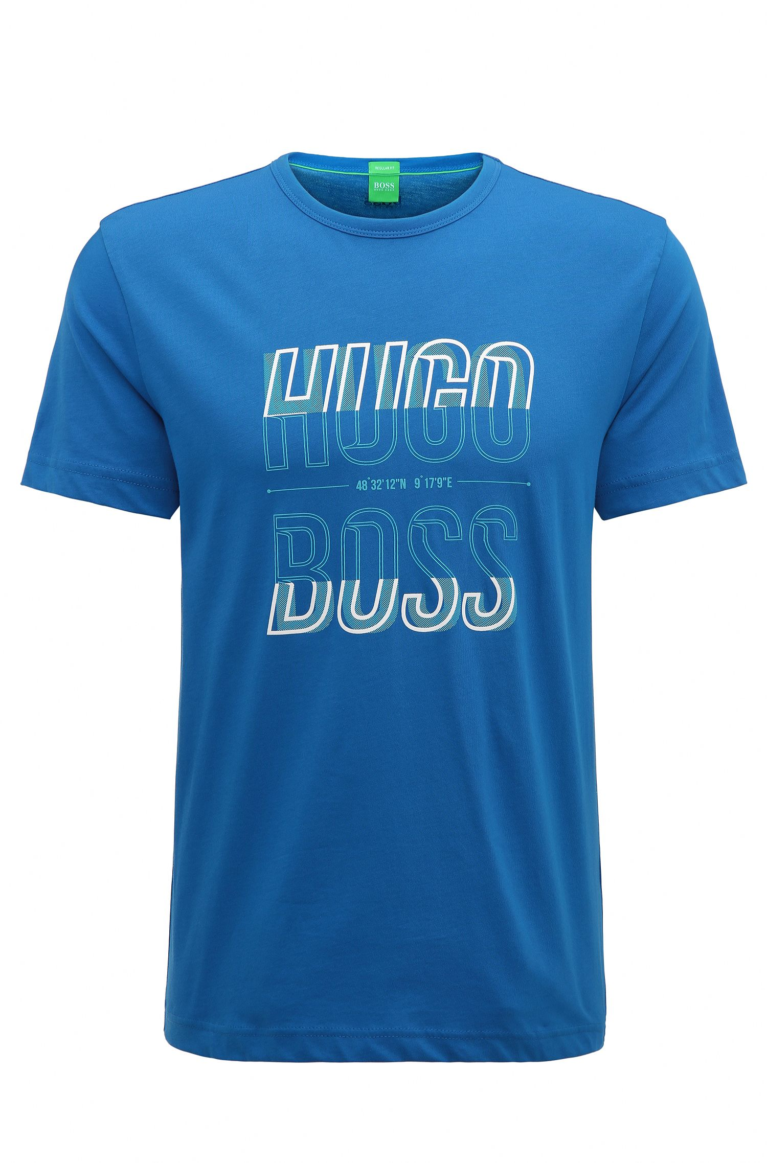 Camiseta regular fit en punto sencillo