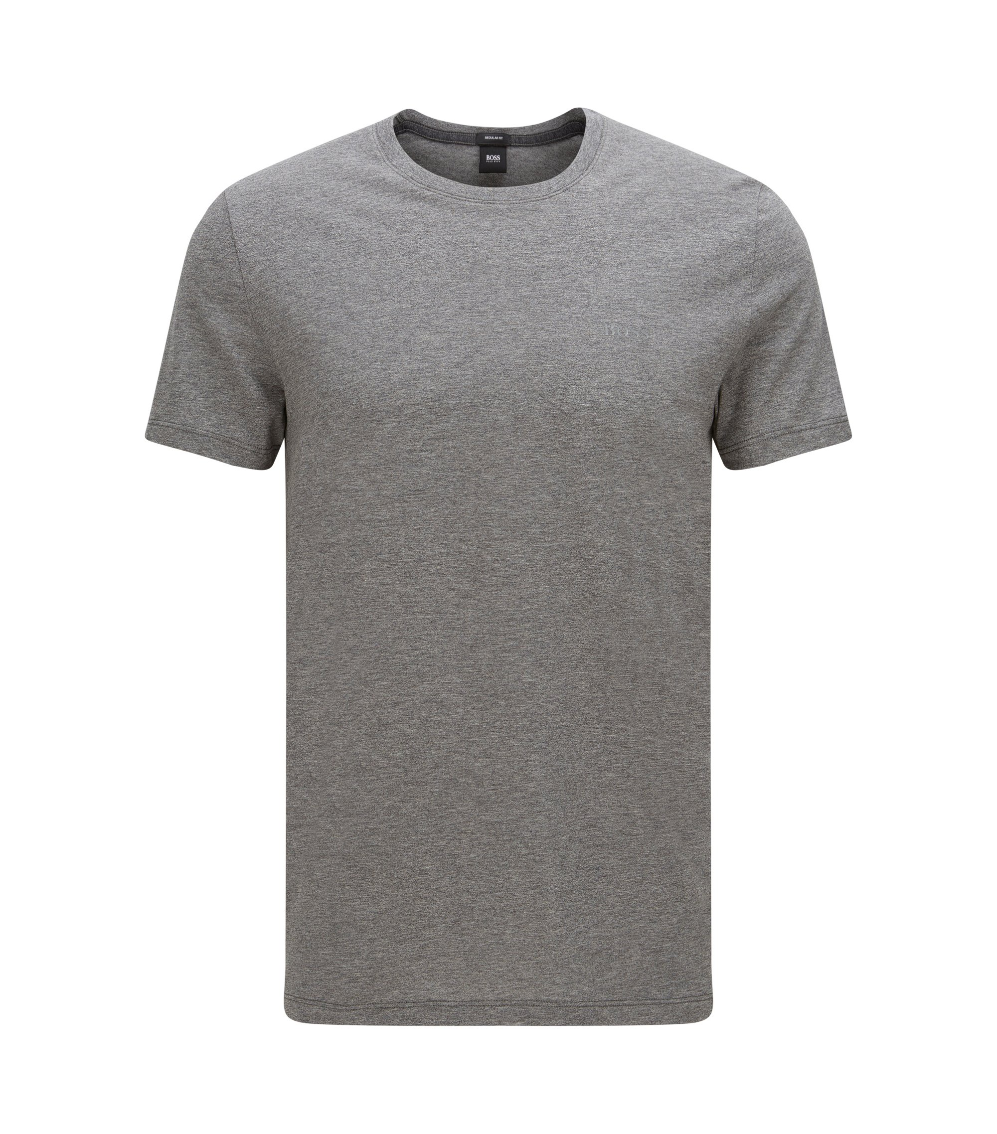 Camiseta regular fit en algodón suave, Gris