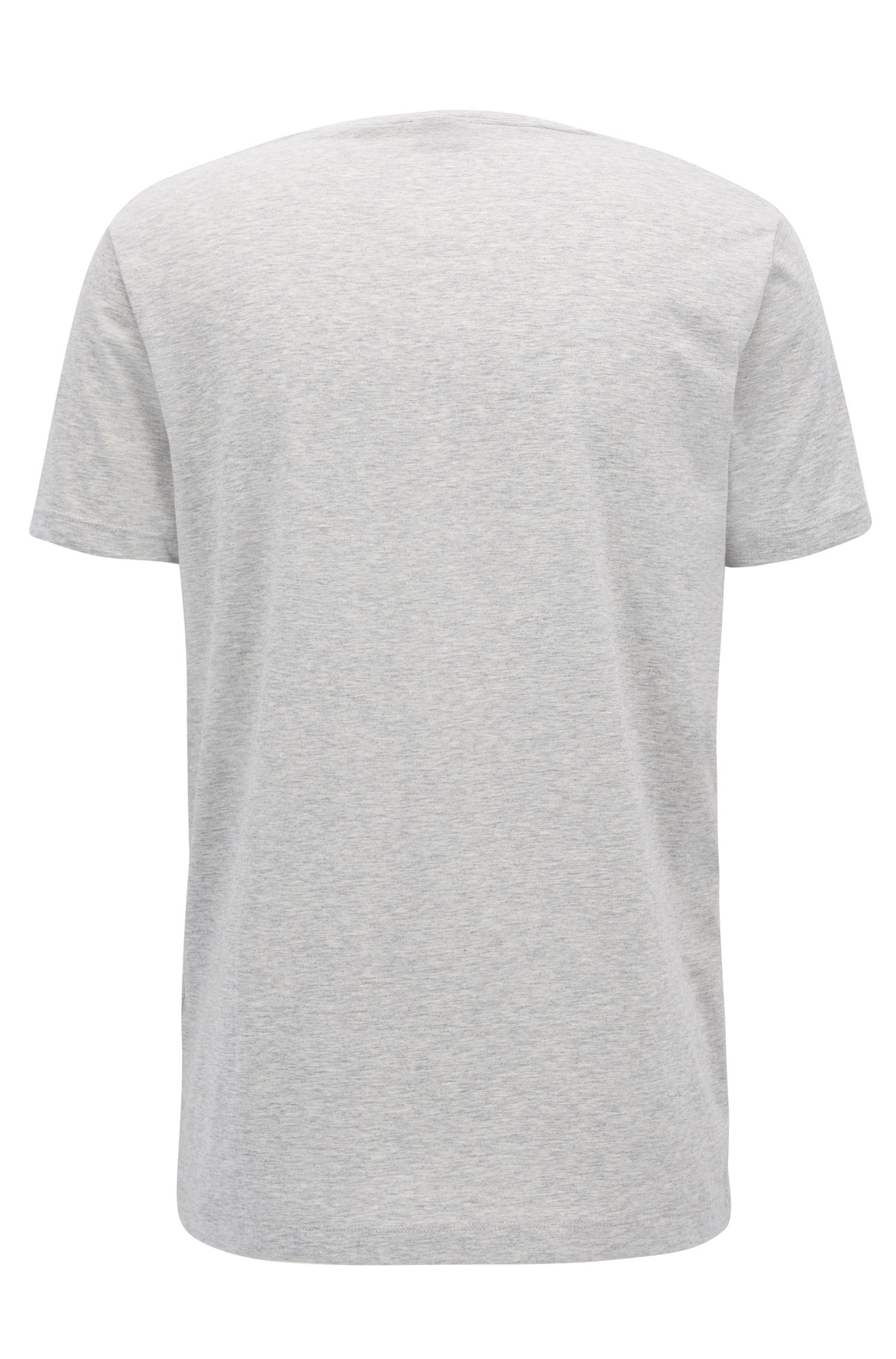 T-shirt Regular Fit en coton doux, Gris chiné
