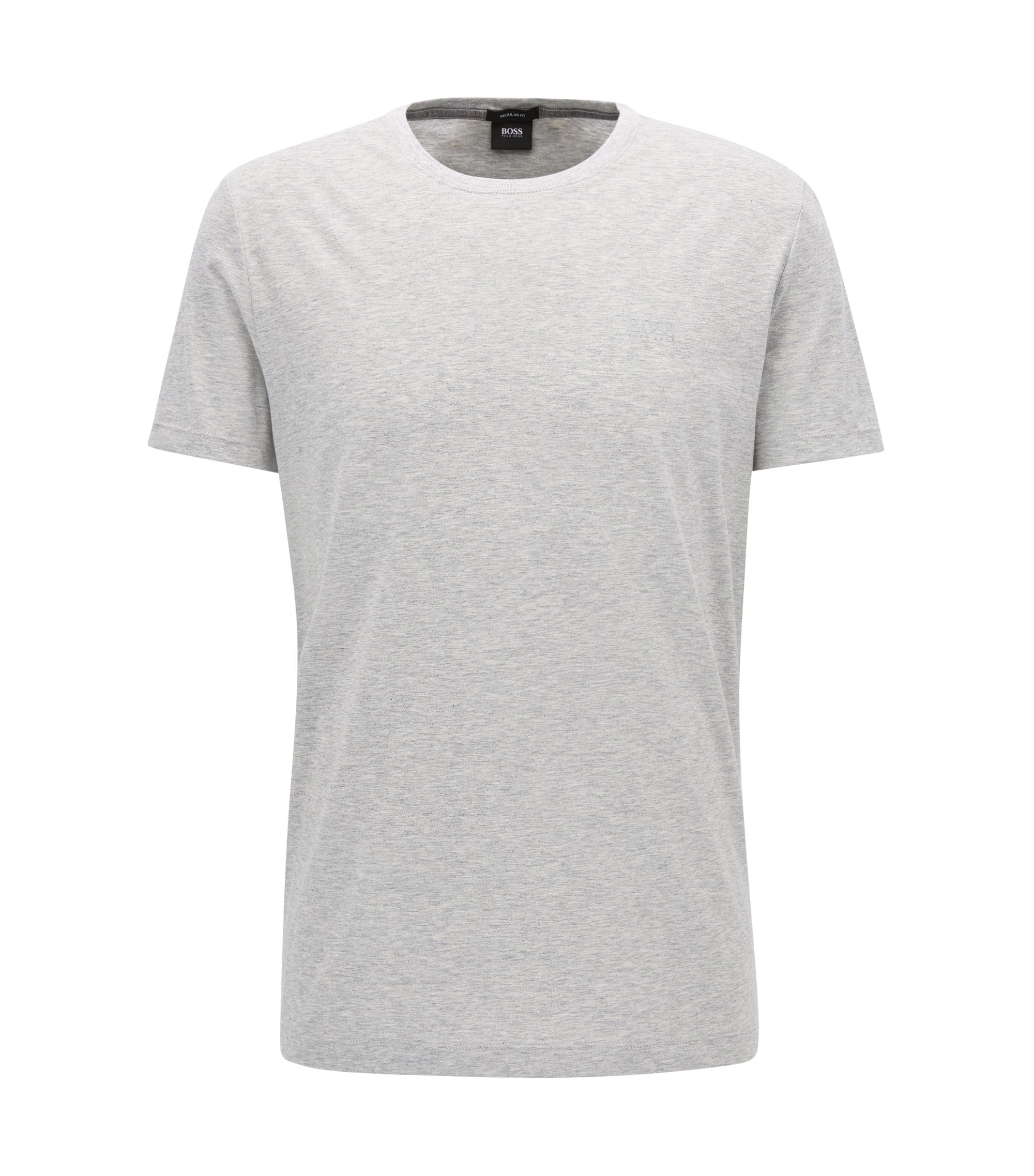Regular-Fit T-Shirt aus weicher Baumwolle, Hellgrau