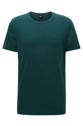 T-shirt regular fit in morbido cotone, Verde scuro