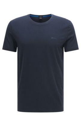 T-shirt regular fit in morbido cotone, Blu scuro