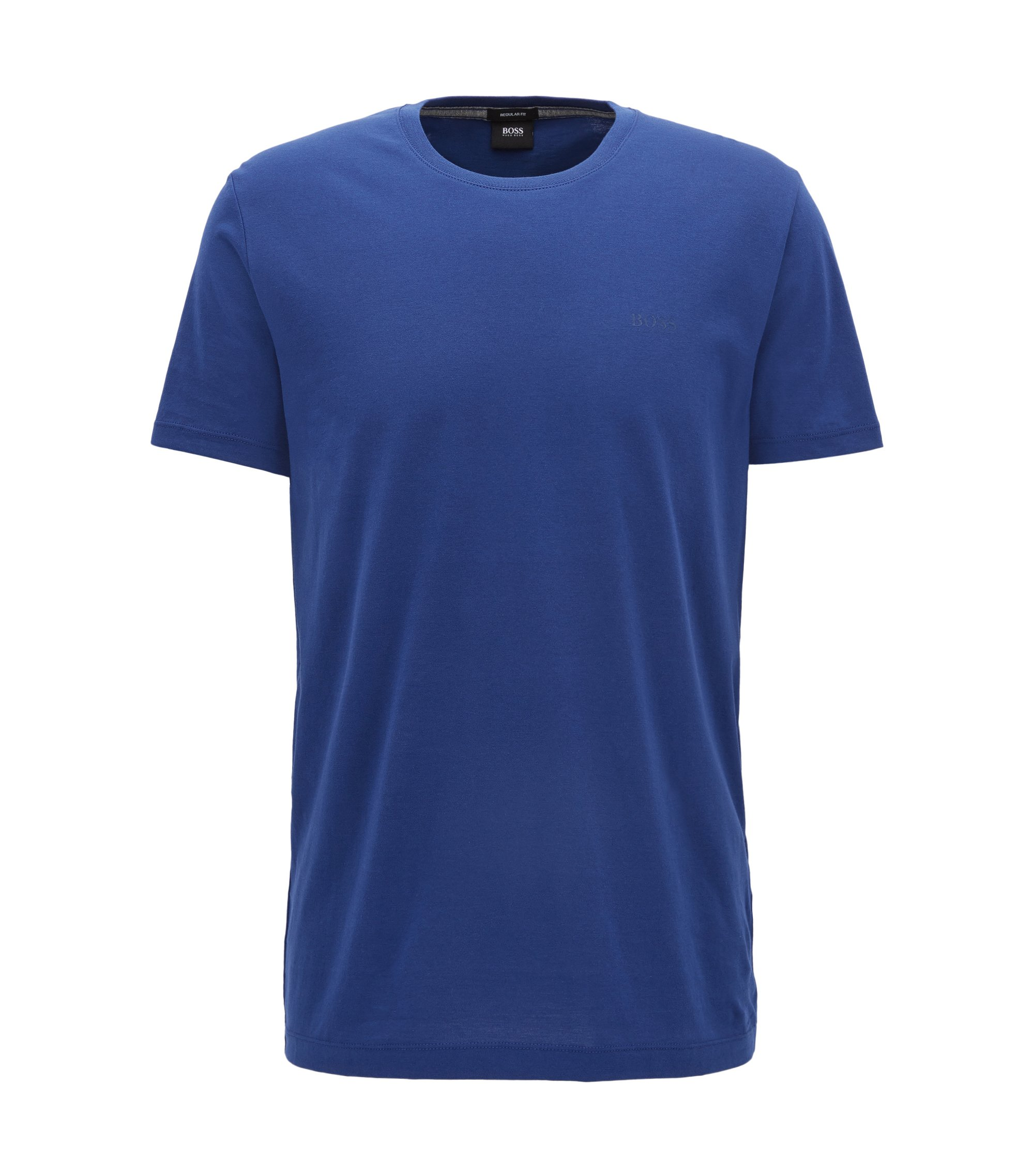 Regular-Fit T-Shirt aus weicher Baumwolle, Dunkelblau