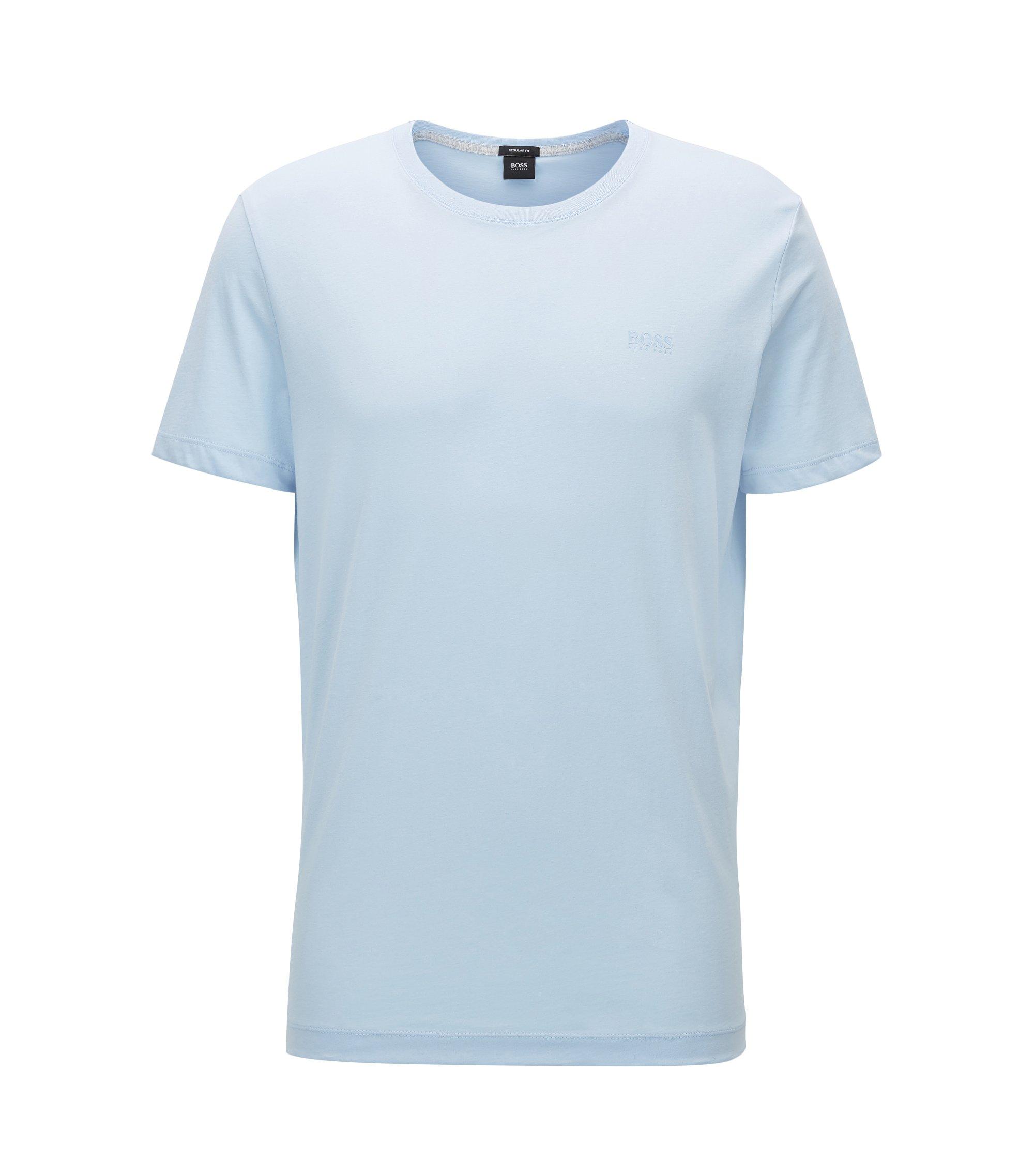 Regular-Fit T-Shirt aus weicher Baumwolle, Hellblau