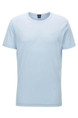 T-shirt regular fit in morbido cotone, Celeste