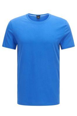 T-shirt Regular Fit en coton doux, Bleu