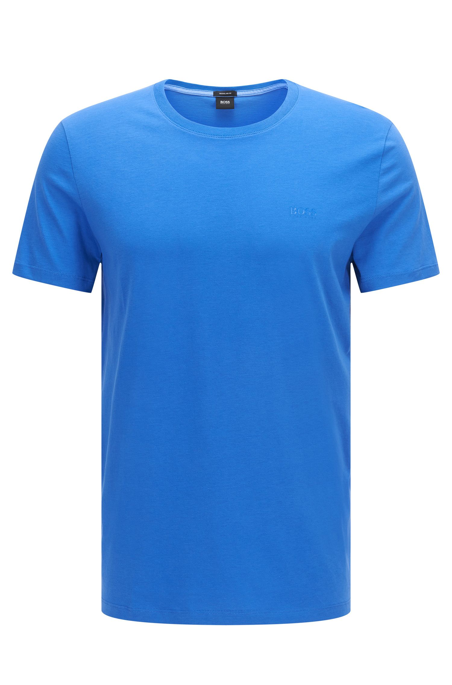 T-shirt Regular Fit en coton doux, Bleu