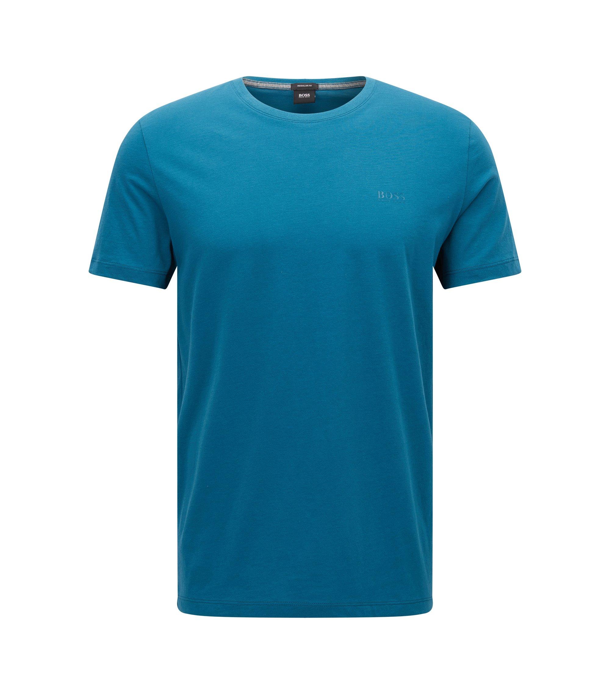 Regular-Fit T-Shirt aus weicher Baumwolle, Türkis