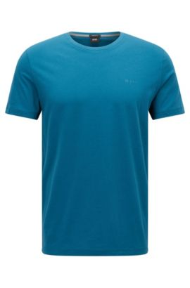 T-shirt Regular Fit en coton doux, Turquoise