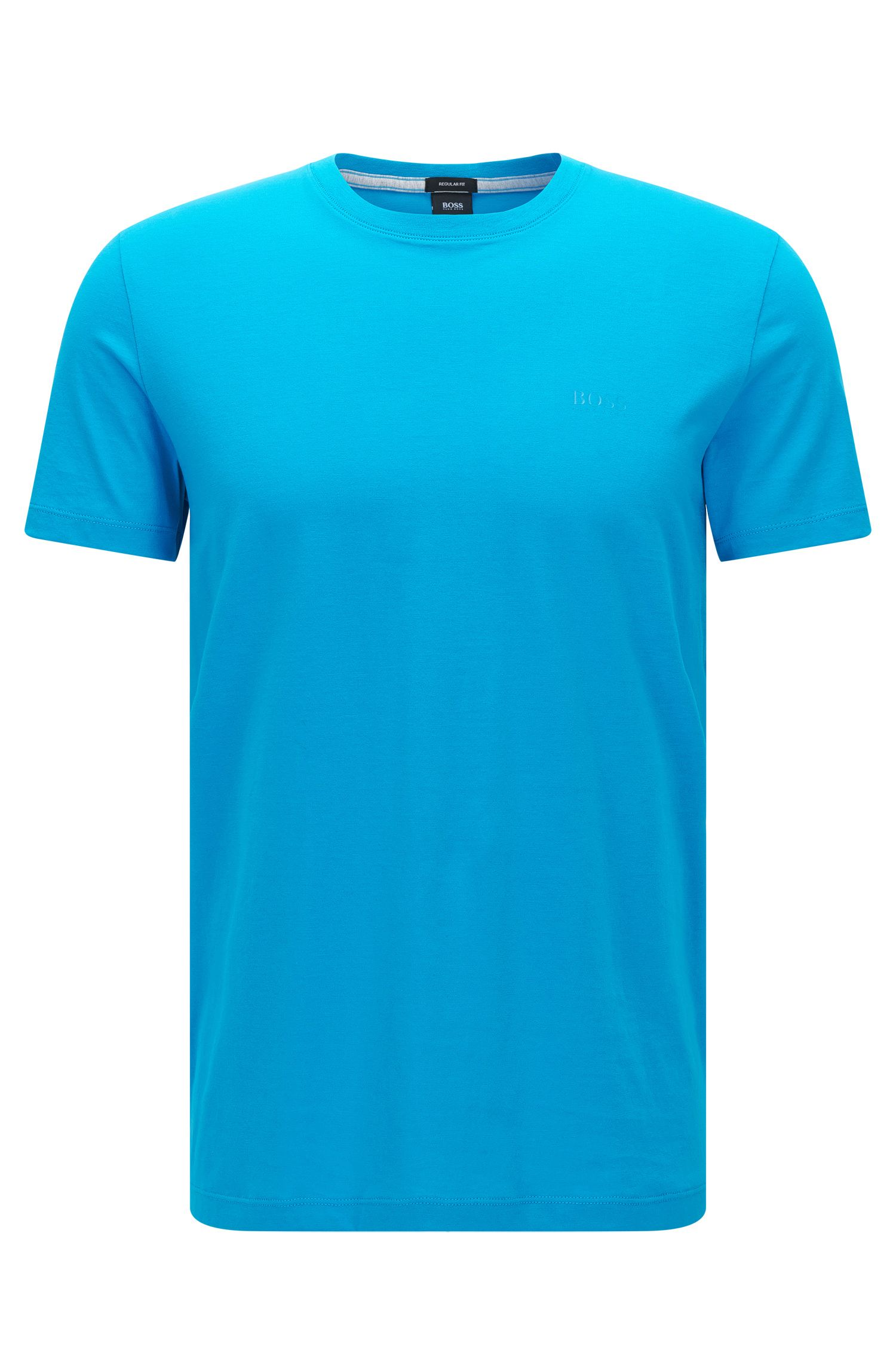Camiseta regular fit en algodón suave