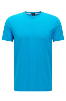 Camiseta regular fit en algodón suave, Celeste