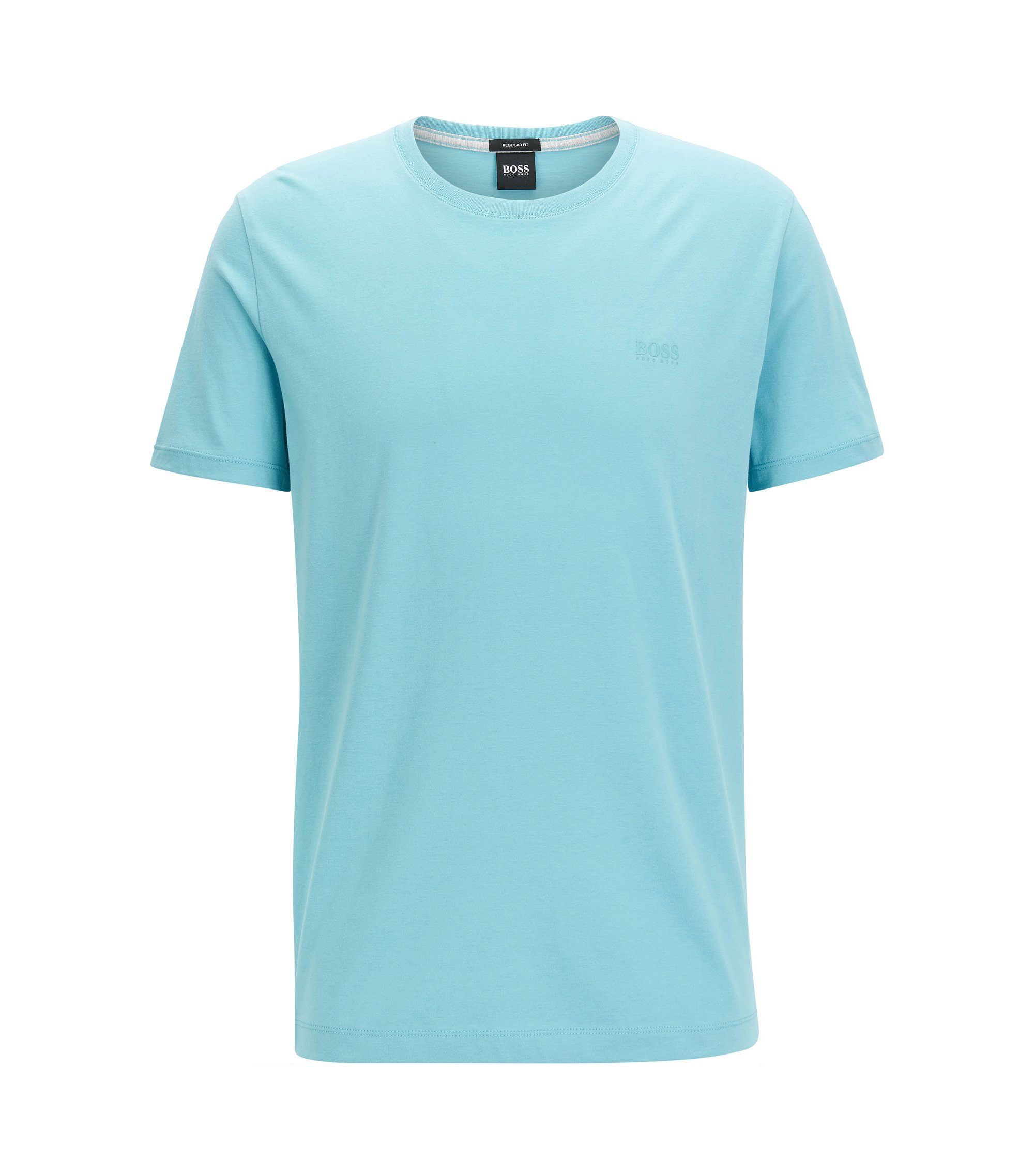 T-shirt Regular Fit en coton doux, Bleu vif