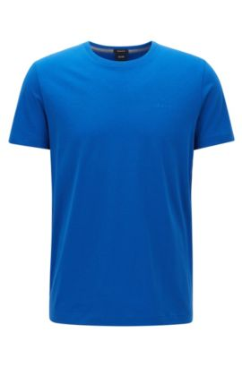 Camiseta regular fit en algodón suave, Azul