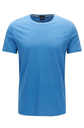 T-shirt regular fit in morbido cotone, Blu