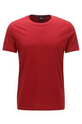 T-shirt en coton à col rond à la finition très fluide, Rouge