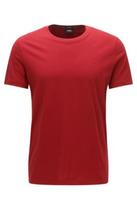 Camiseta regular fit en algodón suave, Rojo