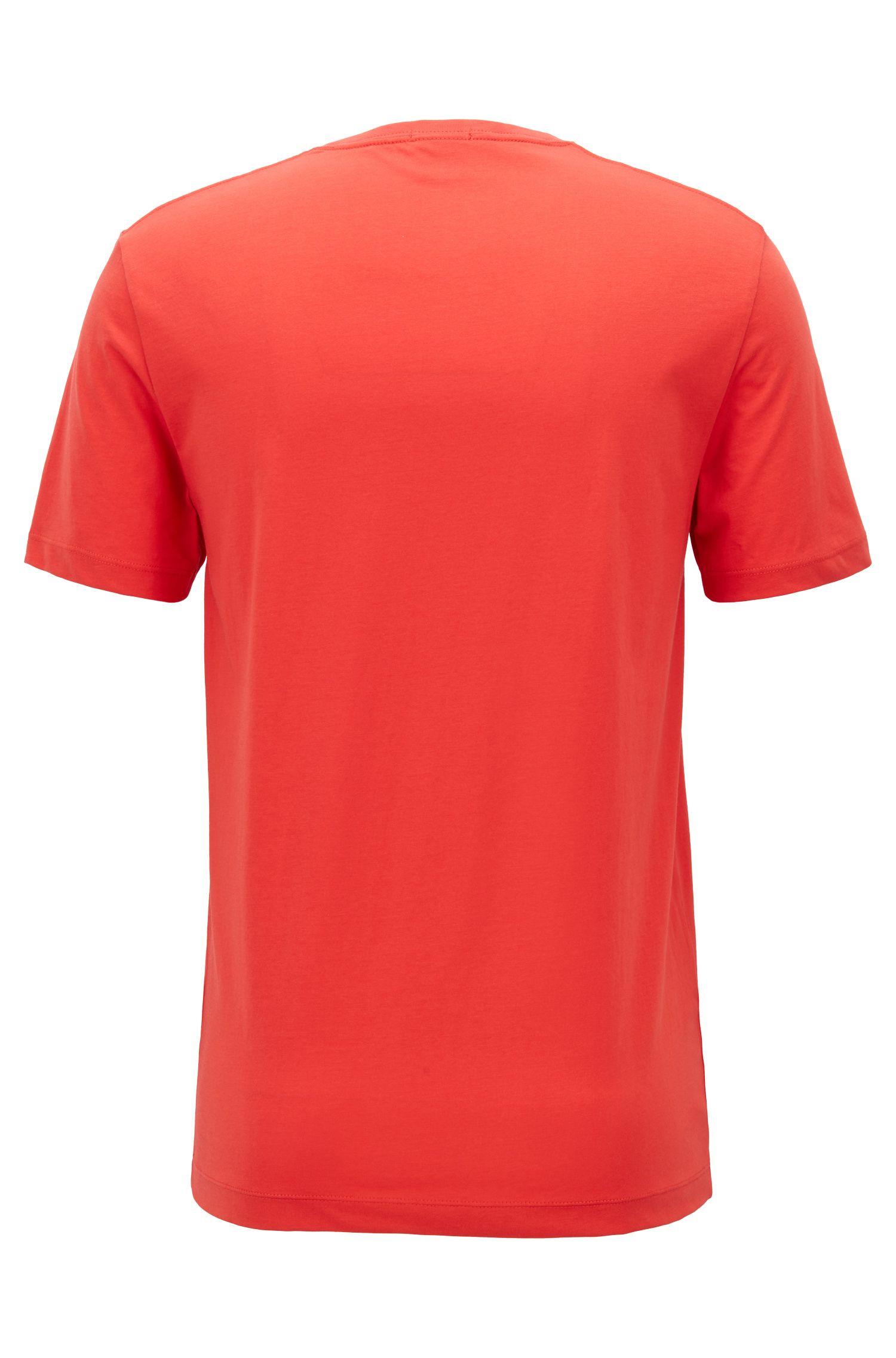T-shirt regular fit in morbido cotone, Rosso