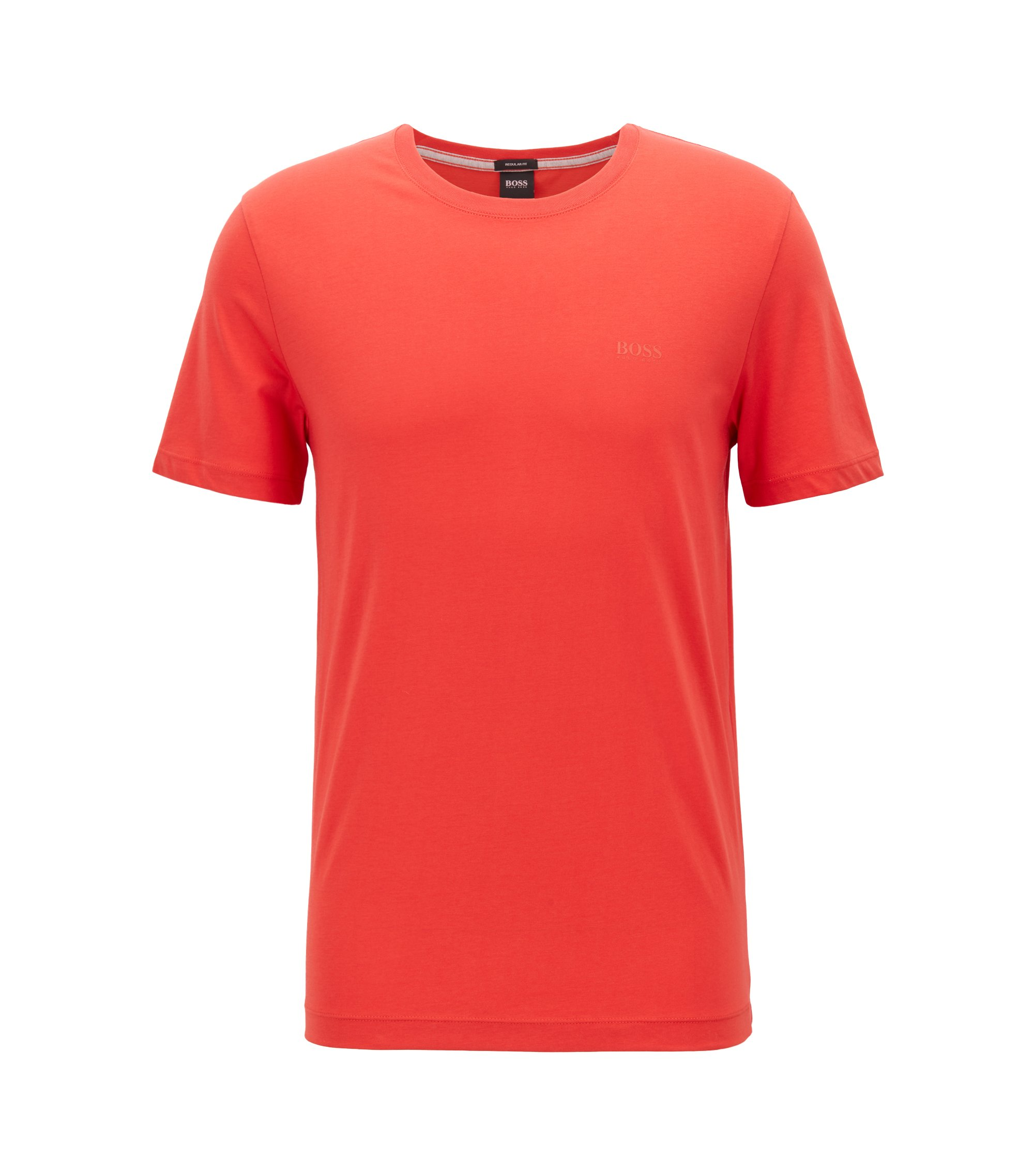 T-shirt Regular Fit en coton doux, Rouge