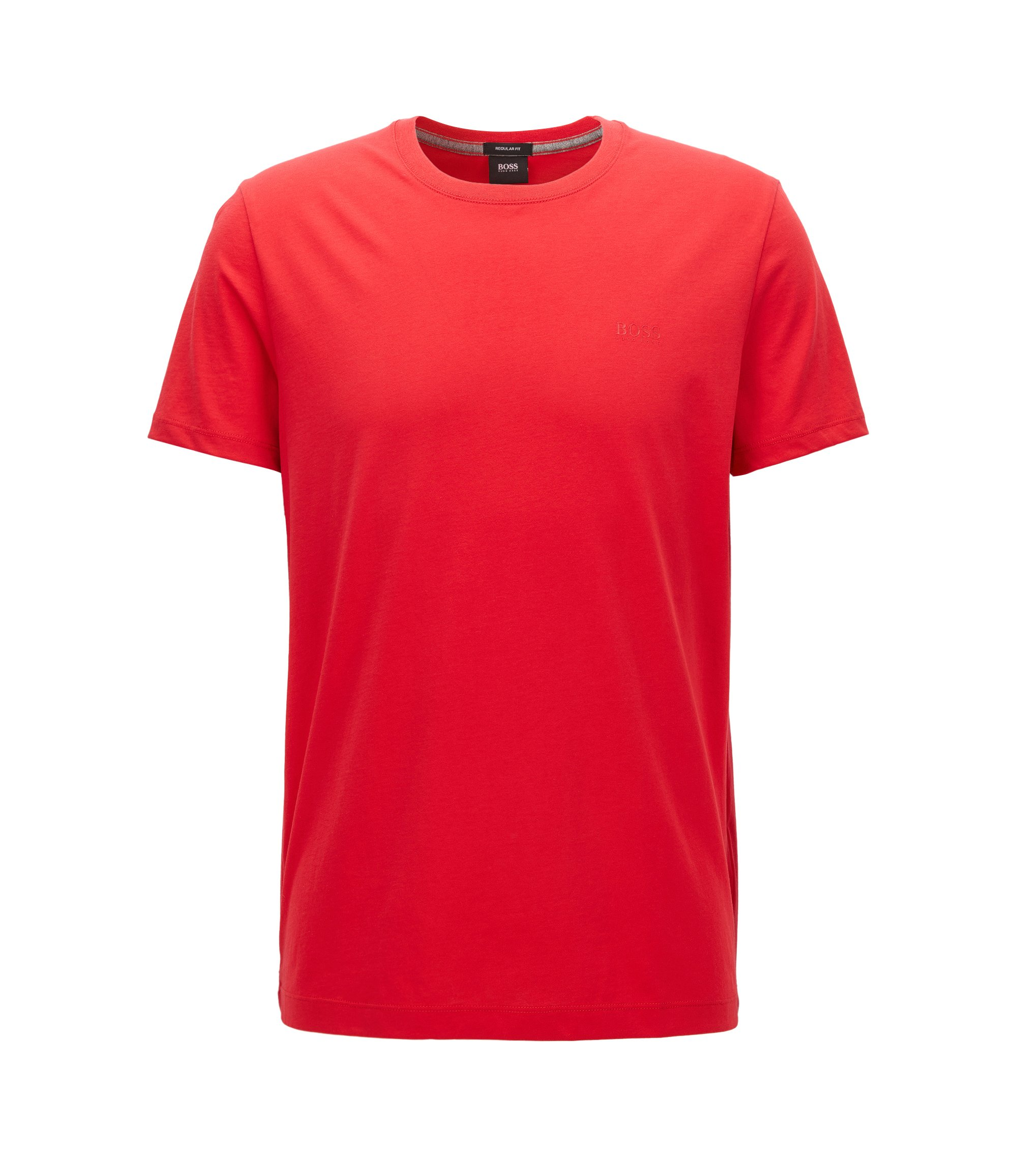 T-shirt Regular Fit en coton doux, Rouge