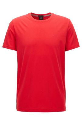 Camiseta regular fit en algodón suave, Rojo
