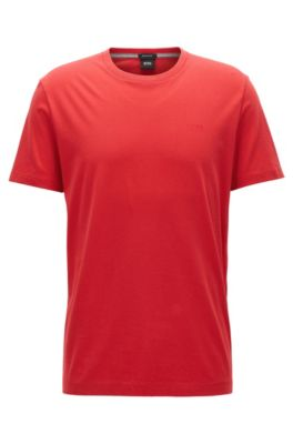Regular-Fit T-Shirt aus weicher Baumwolle, Rot