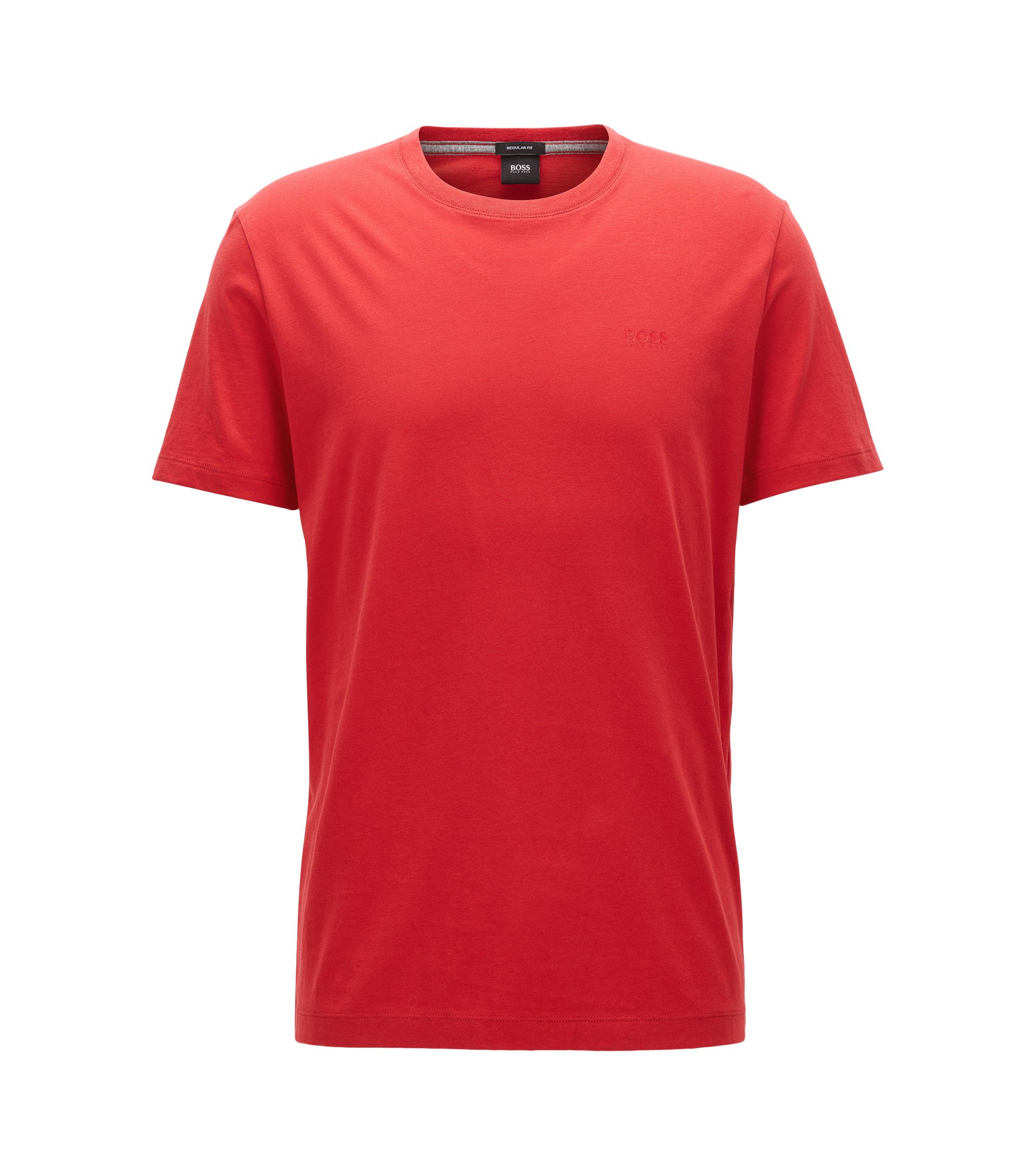 Regular-Fit T-Shirt aus weicher Baumwolle, Rot