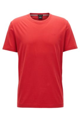 Regular-fit T-shirt in soft cotton, Red