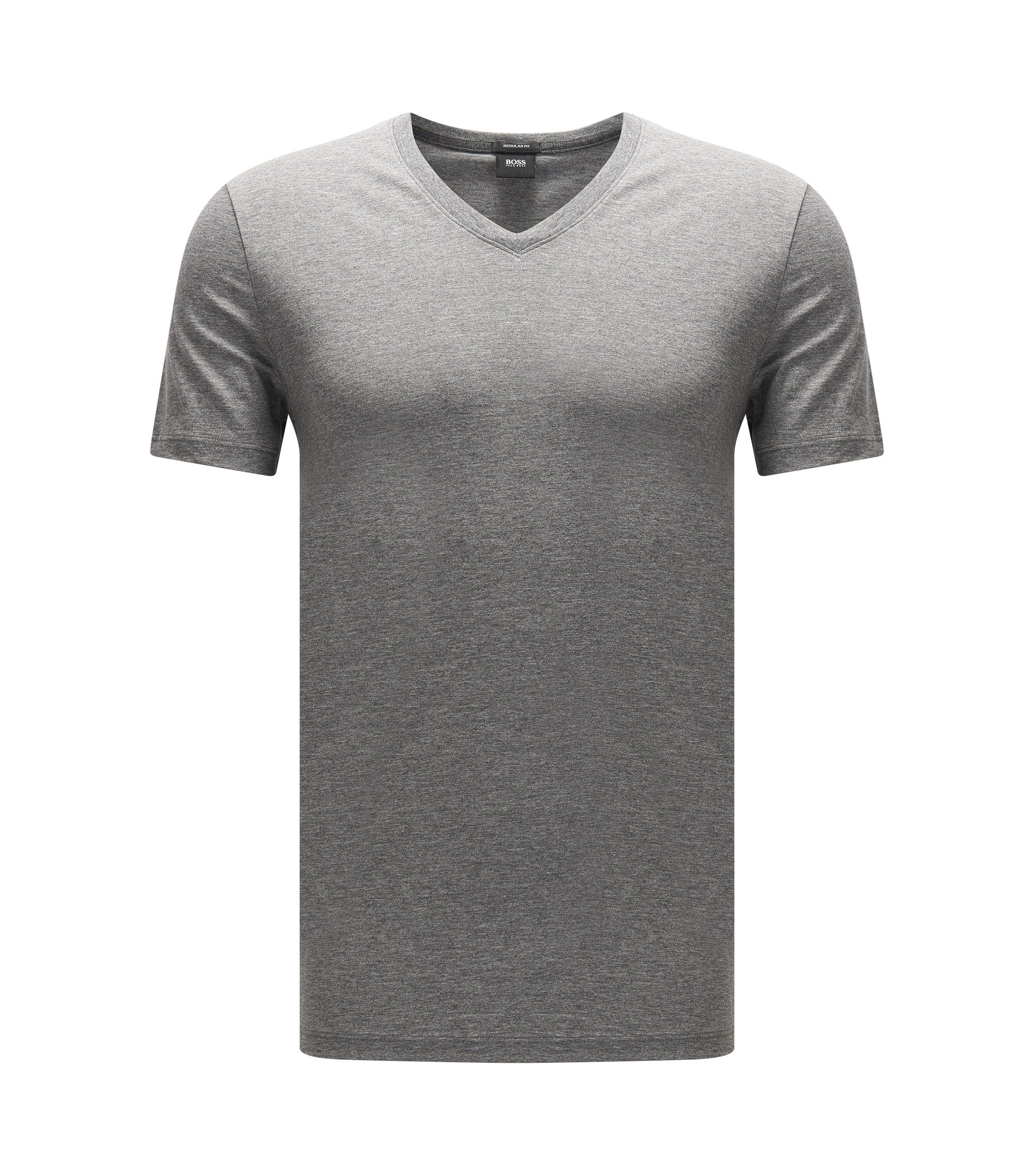 Regular-fit T-shirt in single jersey, Grey