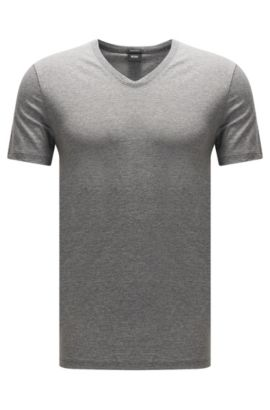 Camiseta regular fit en punto sencillo, Gris