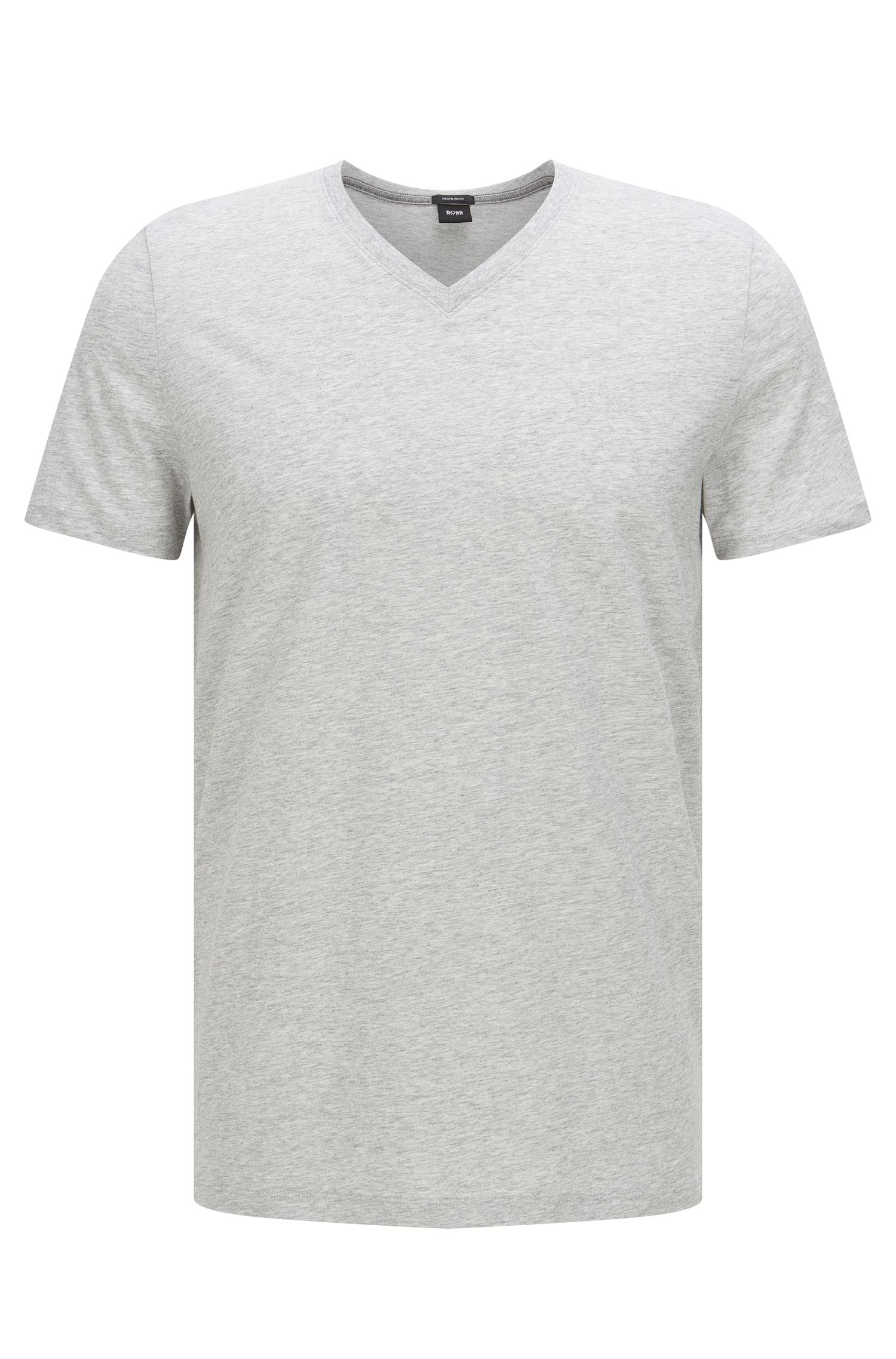 Regular-fit T-shirt van single jersey, Lichtgrijs