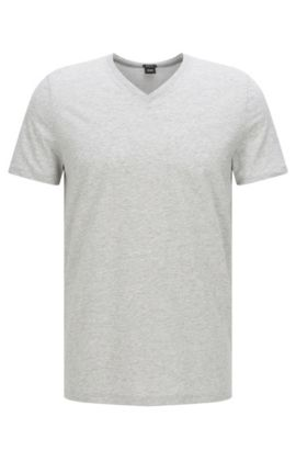 Regular-fit T-shirt in single jersey, Open Grey