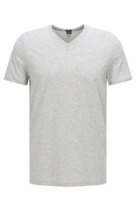 T-shirt Regular Fit en jersey simple, Gris chiné