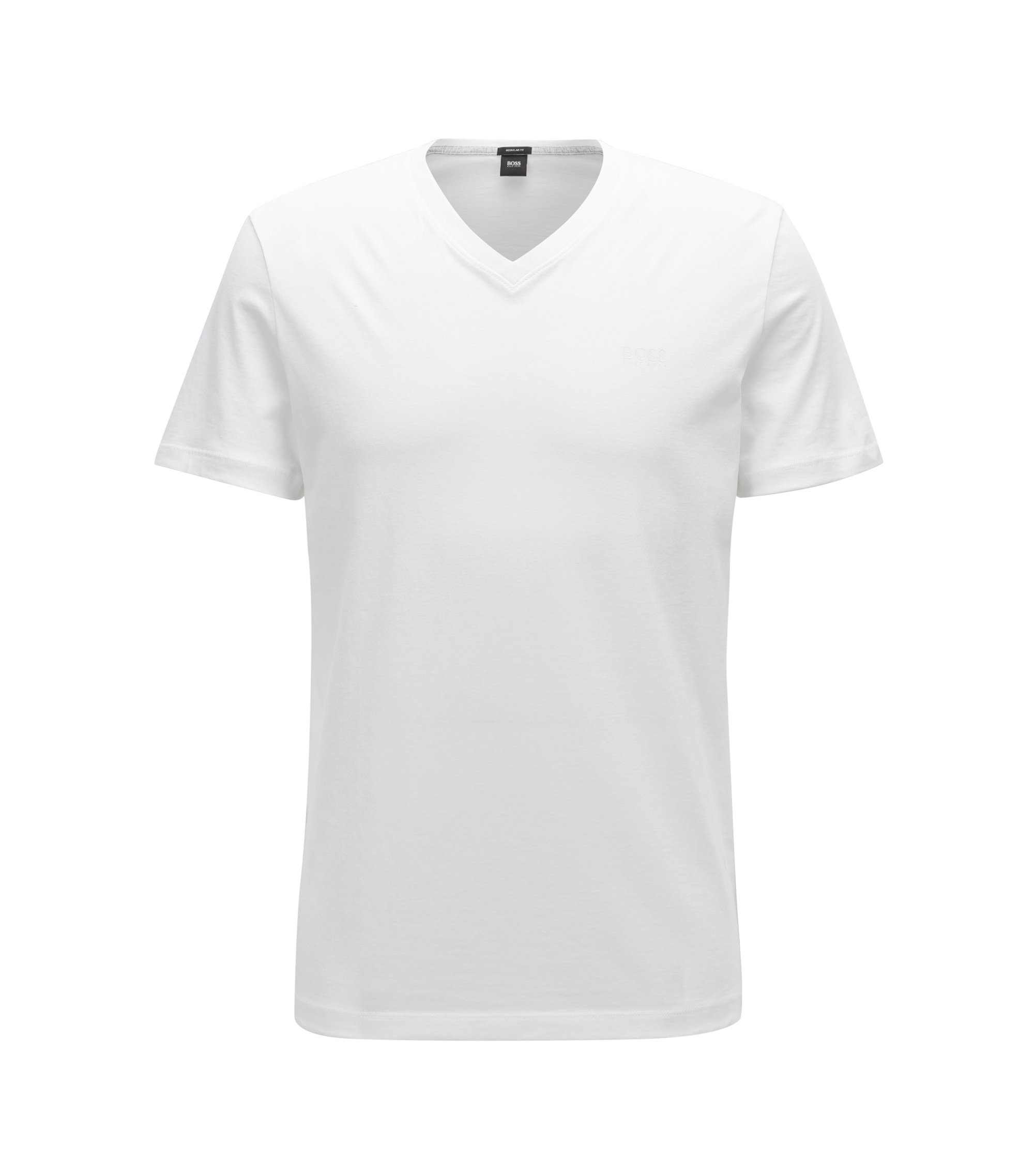 Regular-Fit T-Shirt aus Single Jersey, Weiß