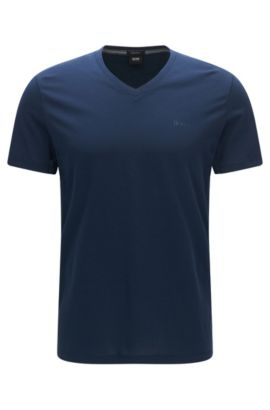 T-shirt regular fit in jersey singolo, Blu scuro