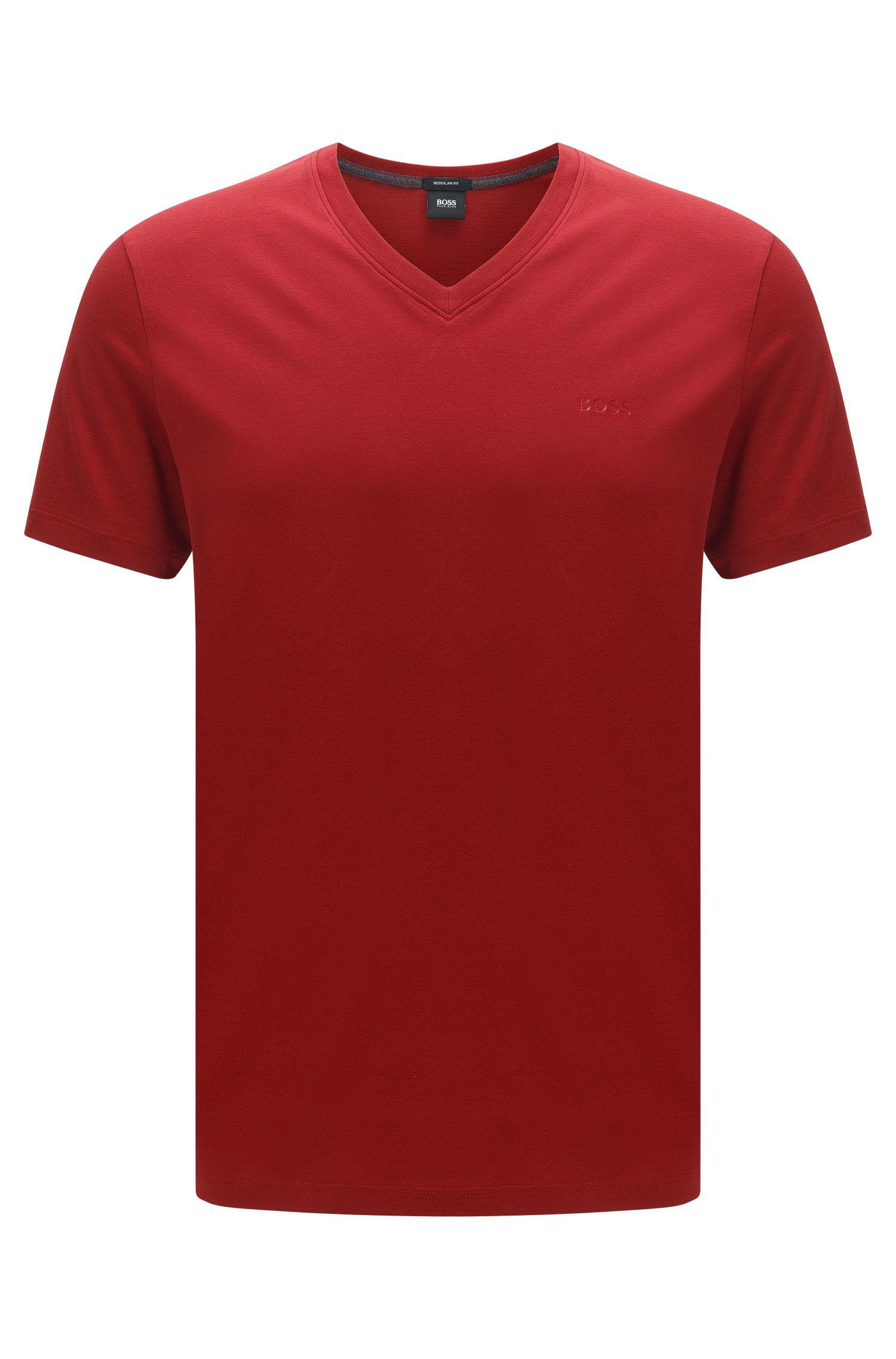 Regular-Fit T-Shirt aus Single Jersey, Rot